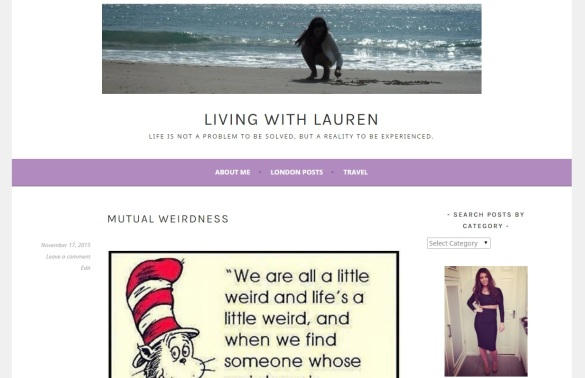 1st blog layout